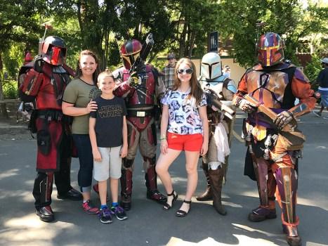 Bounty Hunters at Sacramento Zoo Star Wars Day