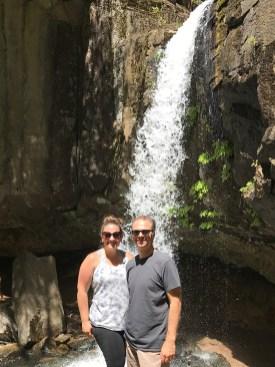 Brian and Jennifer Bourn at hedge Creek Falls
