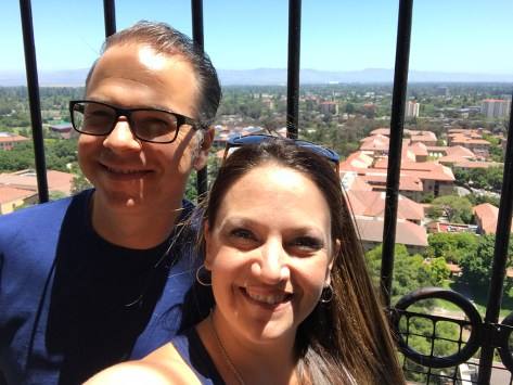 Brian and Jennifer Bourn at Hoover Tower