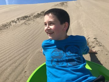 Carter Bourn Sand Sledding
