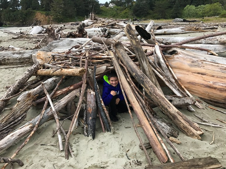 Carter in an Abandoned Driftwood Fort