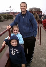 Waiting In Line to Ride The Skunk Train