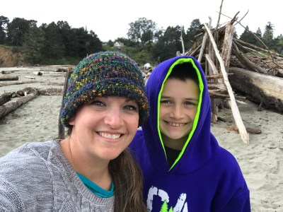 Jennifer and Carter Bourn Visiting Big River Beach in the Mendocino Headlands State Park