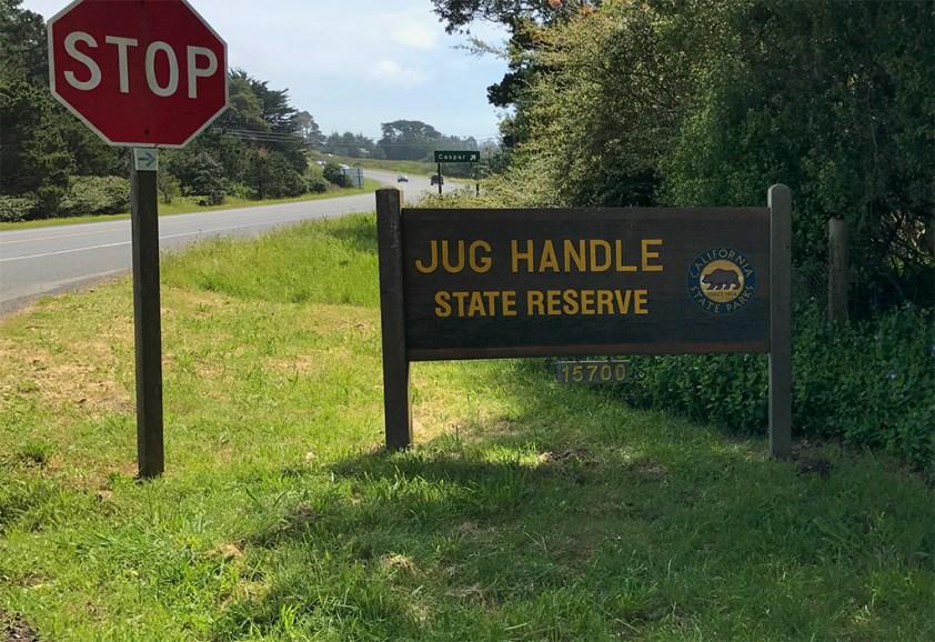 Jug Handle State Reserve Park Entrance Sign On Highway 1