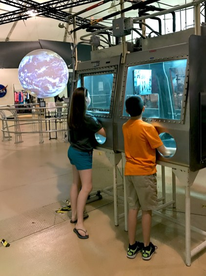 Natalie and Carter Bourn at the NASA Ames Visitor Center