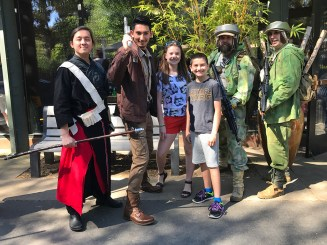 Rebellion Fighters at Sacramento Zoo Star Wars Day