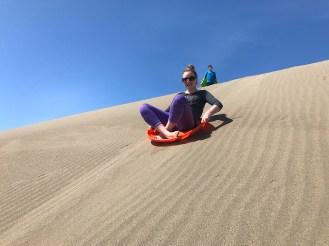 Sand Sledding