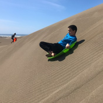 Ten Mile Dunes Sand Sledding