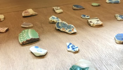Terracotta Pieces Collected at Glass Beach