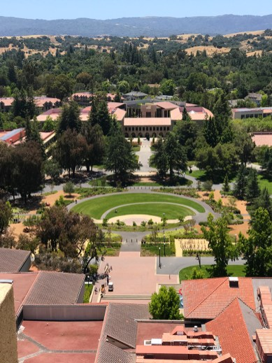 View of Stanford University from the Hoover Tower Observation Deck