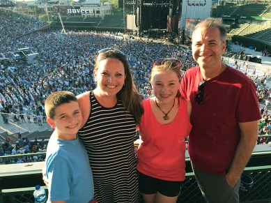 Bourn Family at the 2017 Dead & Company Summer Tour Closeout Shows at Wrigley Field, Chicago