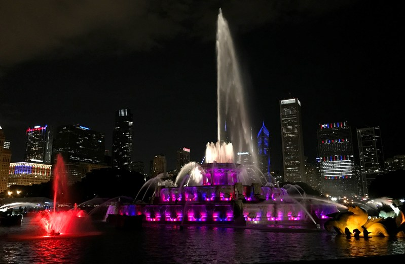 Grant Park's Buckingham Fountain at Night