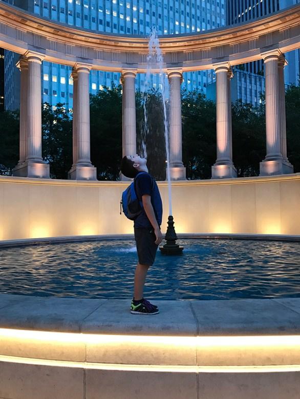 Millenium Monument Fountain in Millennium Park's Wrigley Square