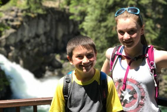 Carter and Natalie Bourn at Upper McCloud Falls