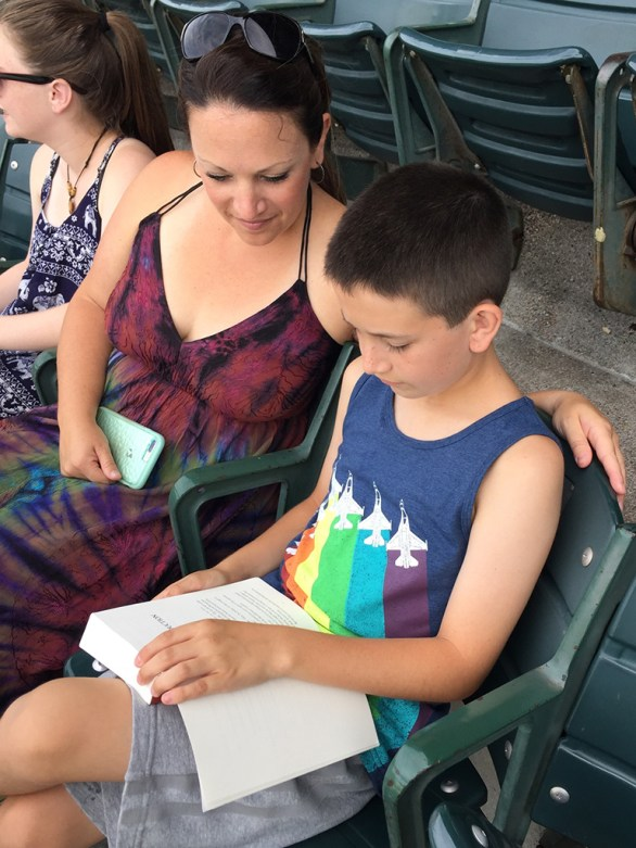 Carter Reading at The Concert