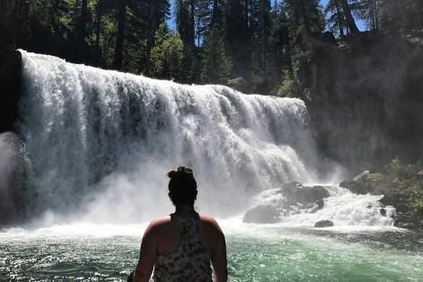 Jennifer Bourn at Middle McCloud Falls