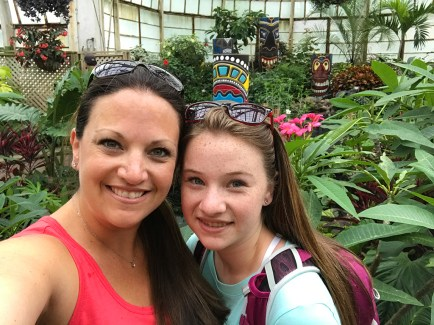 Jennifer and Natalie Bourn visiting the Lincoln Park Conservatory