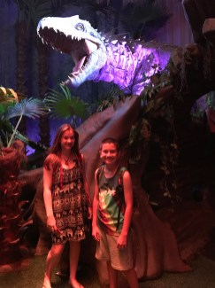 Natalie and Crater at Jurassic World Field Museum Chicago