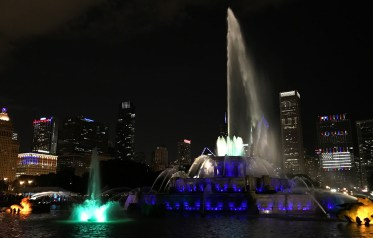 Light, Music, and Water Show at Buckingham Fountain, Chicago
