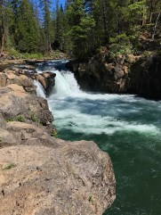 Lower McCloud Falls on the McCloud River in Shasta County, California