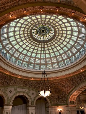 Preston Bradley Hall Tiffany Stained-Glass Dome
