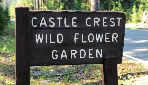 Castle Crest Wildflower Garden Trail Sign