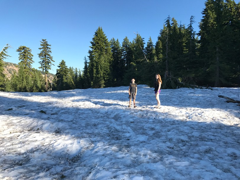 Crater Lake Snow In July