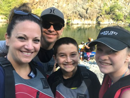 Bourn Family on a Smith River Kayaking Trip