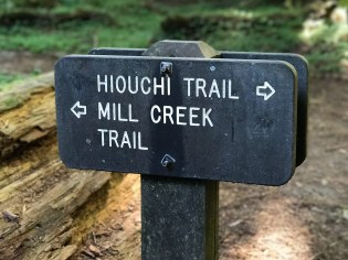 Hiouchi Trail and Mill Creek Trail Sign