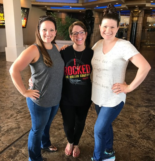 Jennifer Bourn with Mom Linda and sister Kimberly