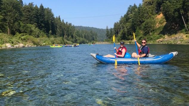 Jennifer and Natalie Bourn on a Half Day Smith River Kayaking Trip