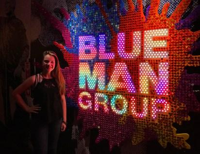 Natalie Bourn at Blue Man Group Las Vegas