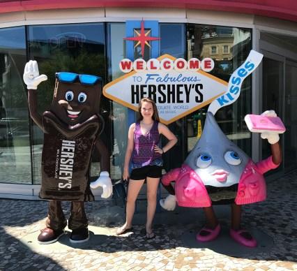 Natalie Bourn at Hershey's Chocolate World