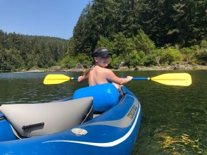 Natalie Bourn Kayaking on the Smith River