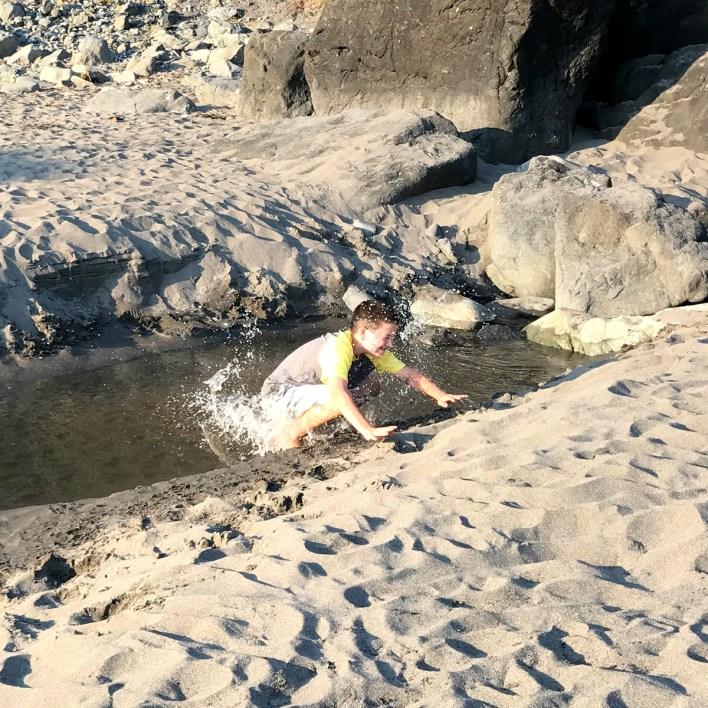 Carter Sticking the Landing When Jumping Over Mill Creek
