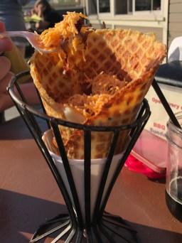 Mashed Potato Waffle Cone