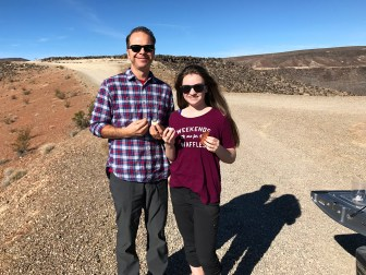 Brian and Natalie Bourn at Father Crowley Vista in Death Valley National Park