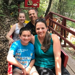 Bourn Family on the Confusion Hill Train Ride