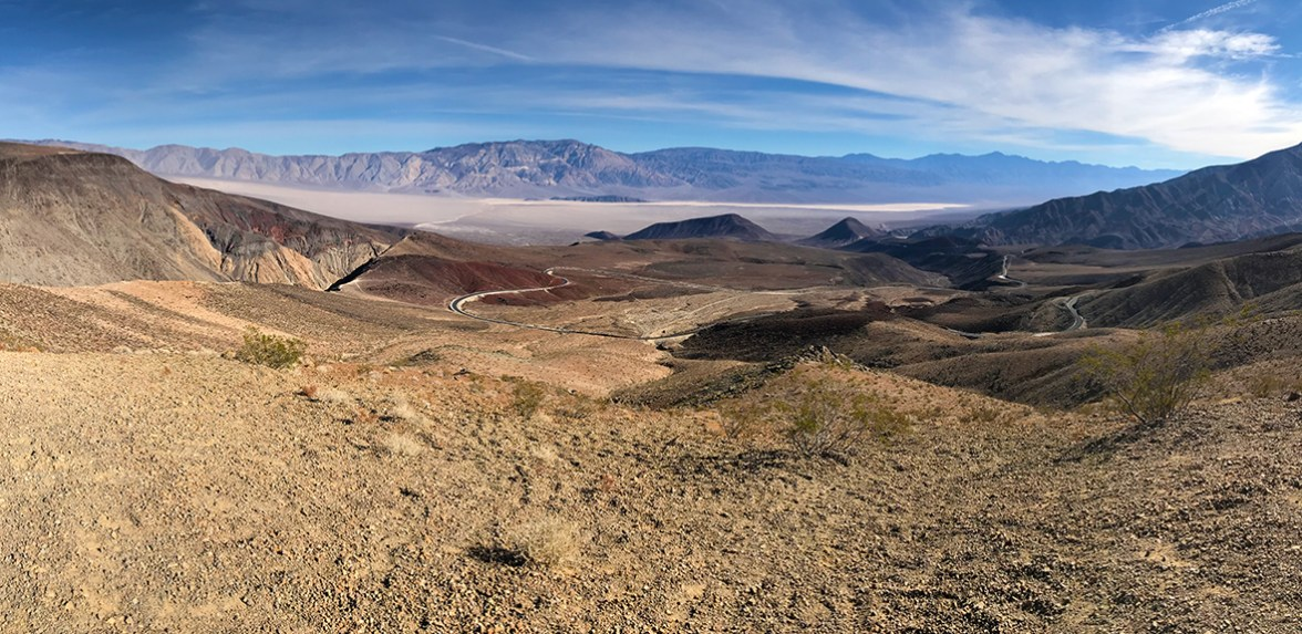 View of Panamint Valley from Father Crowley Vista in Death Valley National Park