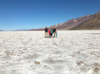 Bourn Family at Badwater Basin