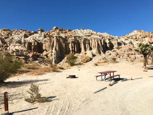 Campsite at Red Rock Canyon State Park