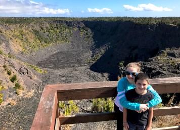 Carter and Natalie Bourn at Pauhai Crater