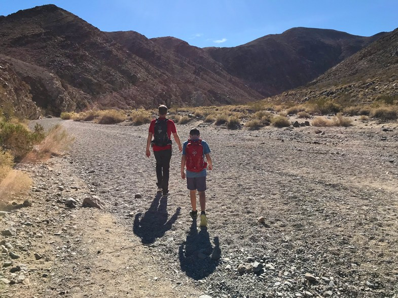 Beginning of the Darwin Falls Trail at Death Valley National Park