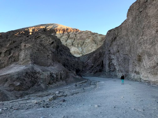 Hiking the Golden Canyon Trail in early morning