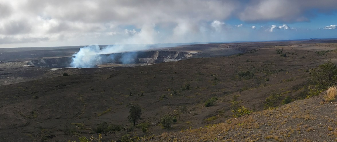Kilauea Crater View from Jaggar Museum During the Day