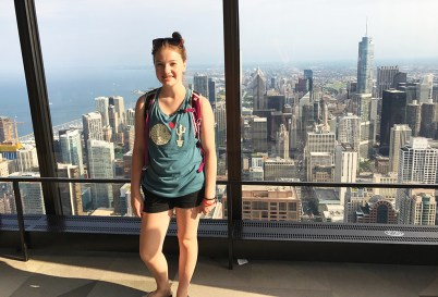 Natalie Bourn at 360 Chicago on the 94th floor of the John Hancock Building