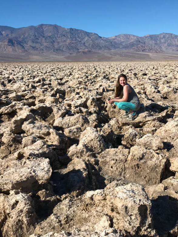 Natalie Bourn at Devil's Golf Course in Death Valley