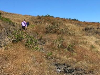 Natalie and Carter Bourn hiking the Hilina Pali Cliffs