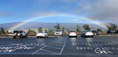 A Rainbow over the Jaggar Museum Parking Lot