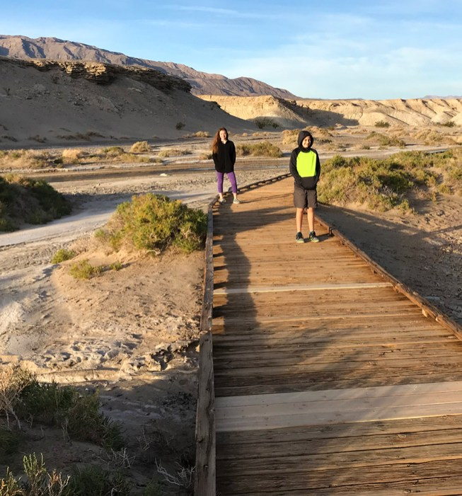 Salt Creek Trail is an Accessible Trail on a Wooden Boardwalk